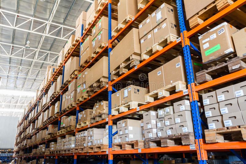 Large modern warehouse royalty free stock images