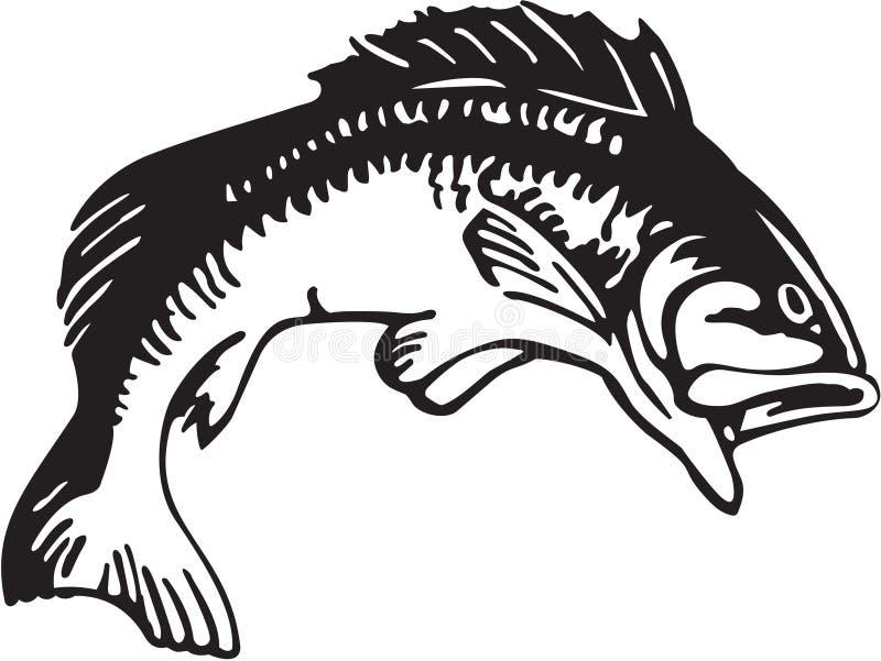 Large Mouth Bass Illustration stock illustration