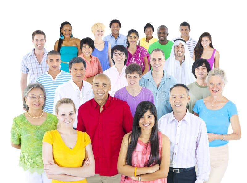 Large Multi-Ethnic Group of People royalty free stock photo