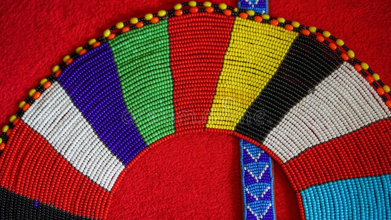 Beaded necklace and belt stock image