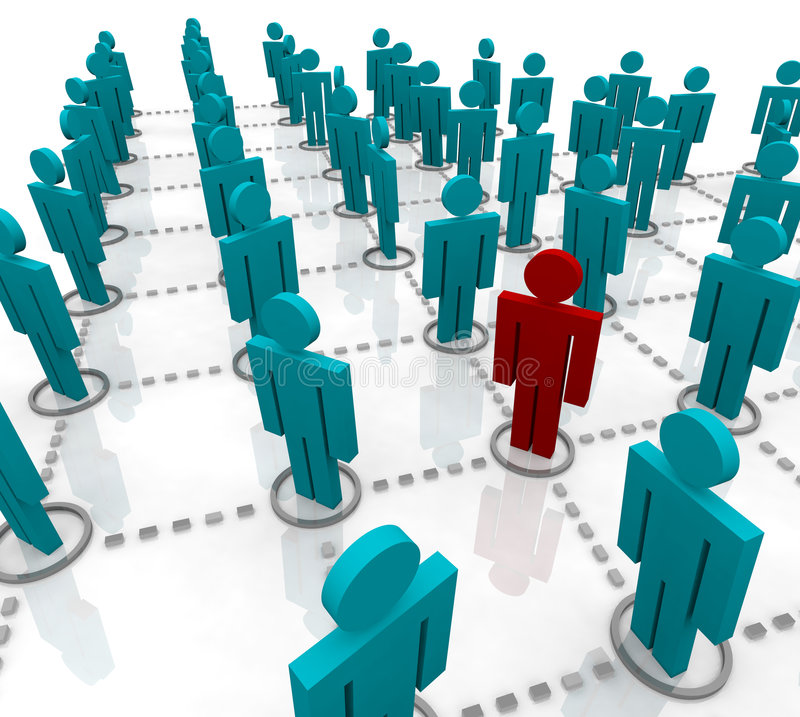 Large Network of People stock illustration