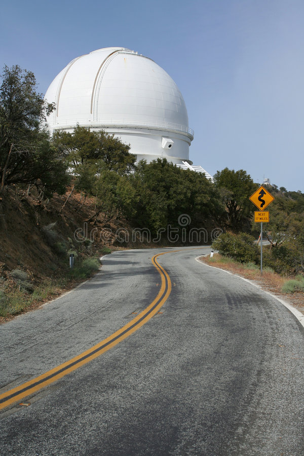 Large Observatory and Road royalty free stock photography