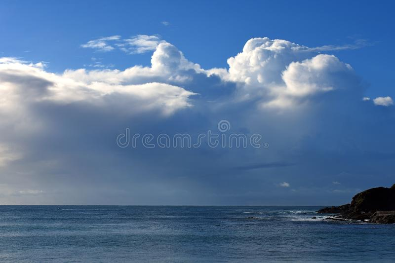 Large ocean storm backdrop stock image