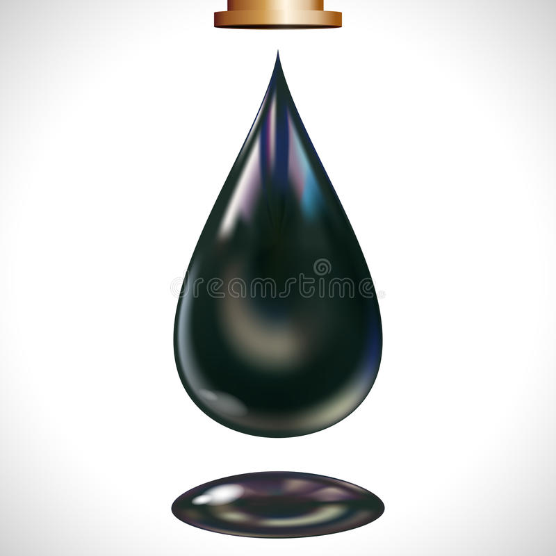 Large oil droplet. stock photos