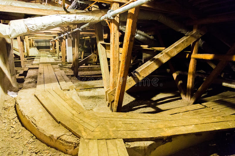 Large old attic royalty free stock photos