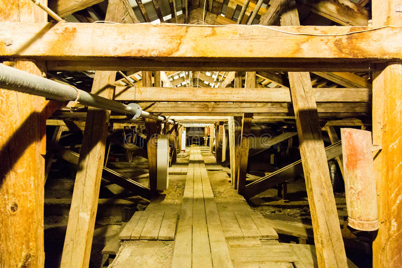 Large old attic stock photography
