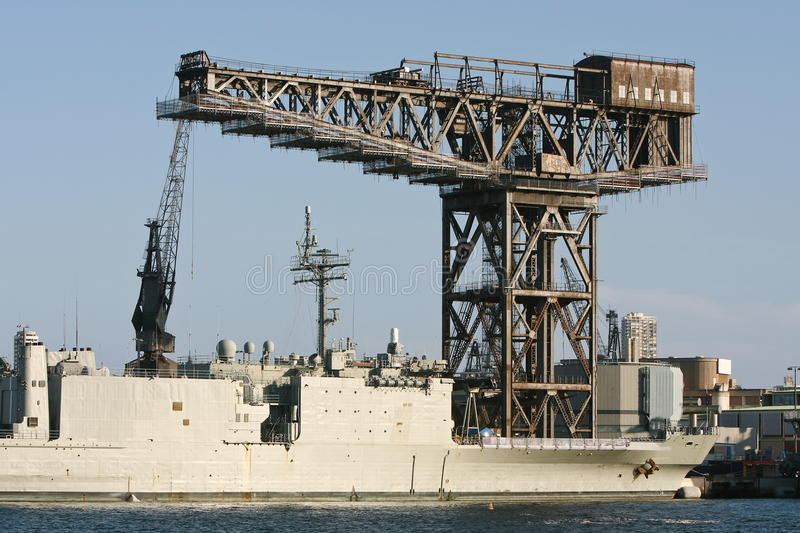 Download Large Old Heavy Duty Steel Crane Stock Image - Image: 17556987