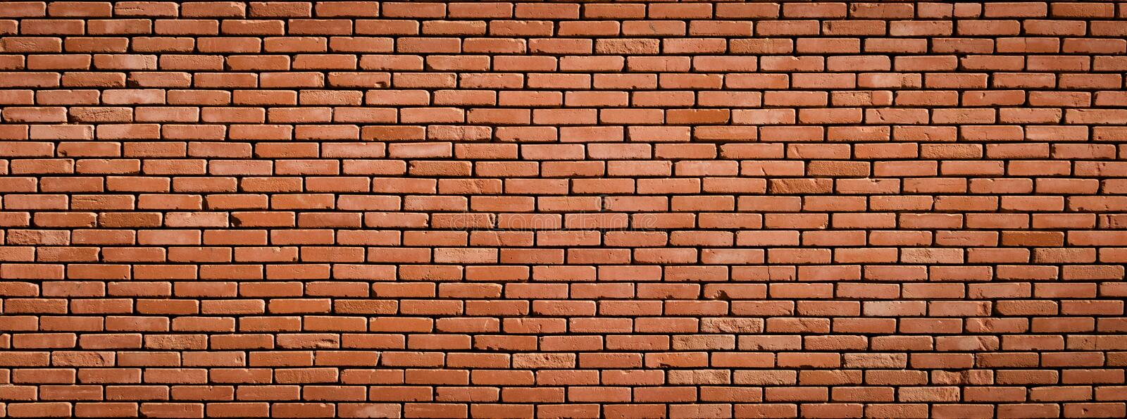 Large Old Red Brick Wall Background Texture stock image