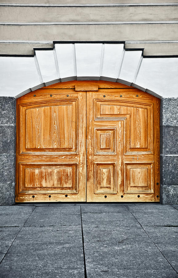 Download Large Old Wooden Door Royalty Free Stock Photo - Image: 23127825