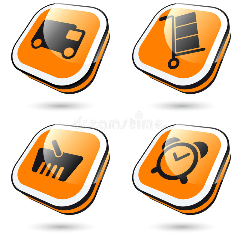 Download Large orange icons stock vector. Illustration of alarm - 18662104