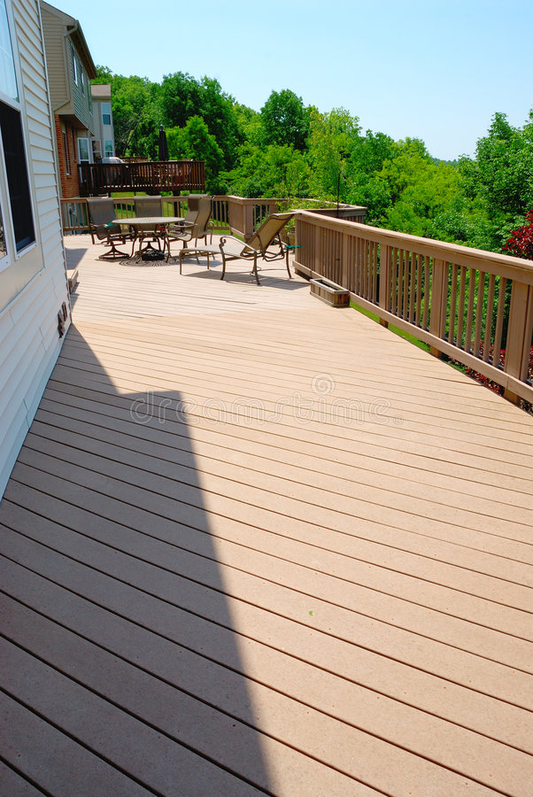 Download Large Outdoor Deck stock image. Image of fence, patio - 2457217