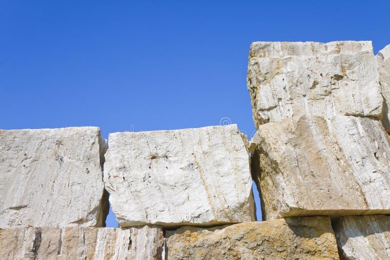 Large overlaid stone blocks background.  royalty free stock photo