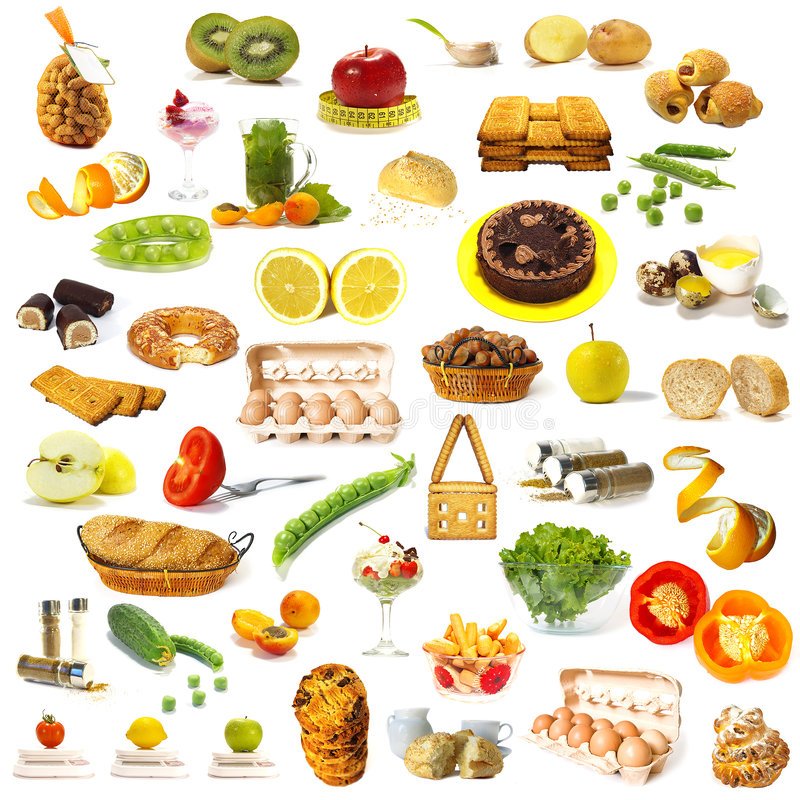 Free Large Page Of Food Assortment Stock Photography - 6195312