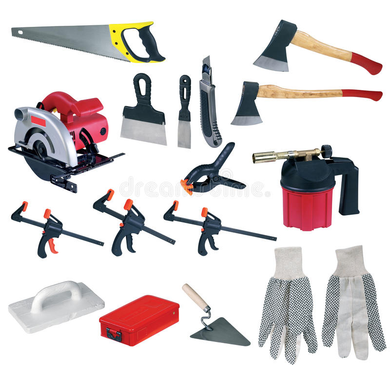 Download Large page of tools stock image. Image of rubber, pistol - 12171787