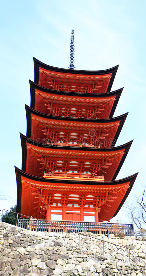 Large pagoda in the heritage shrine royalty free stock image