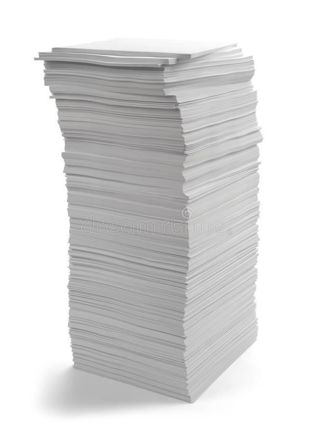 Large Paper Pile stock photo
