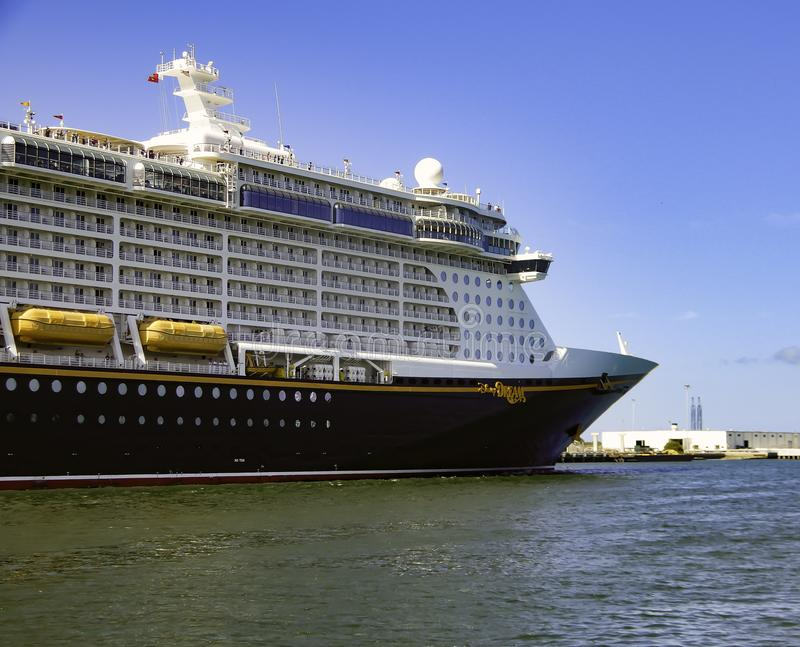 Disney Dream is going out to the Atlantic and Caribbean ocean for a fun trip on May 20,2019. stock photos