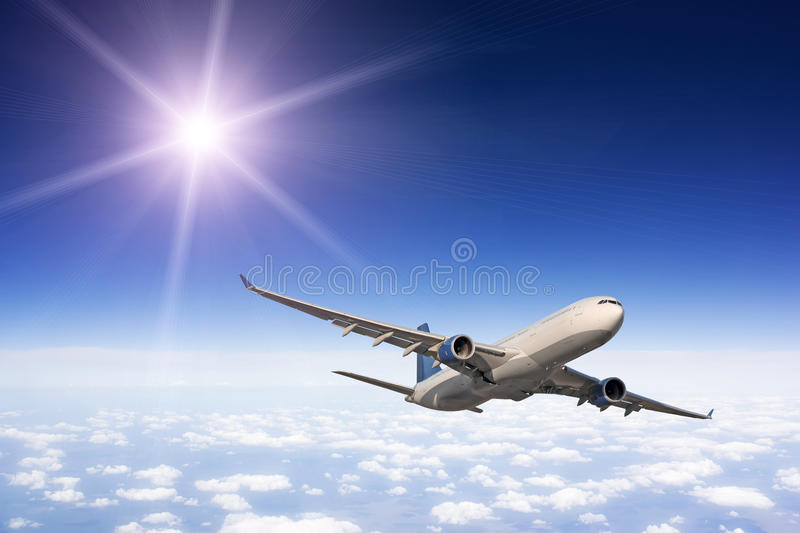 Download Large passenger plane stock image. Image of business - 18303965