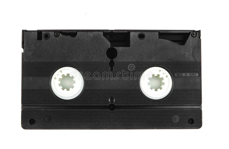 Large picture of an old Video Cassette tape on white background stock image