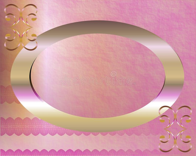 Large pink frame royalty free illustration