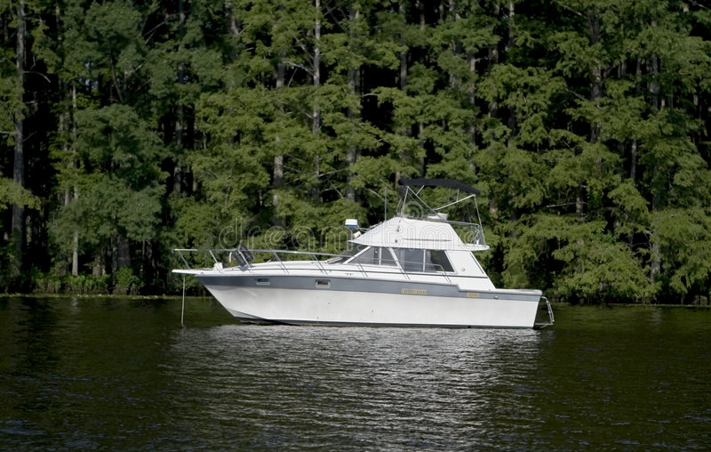 Large pleasure boat royalty free stock photography