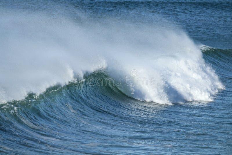 Large powerful wave crashing royalty free stock images