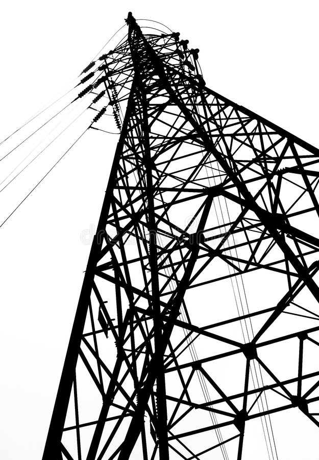 Large Powermast royalty free stock image