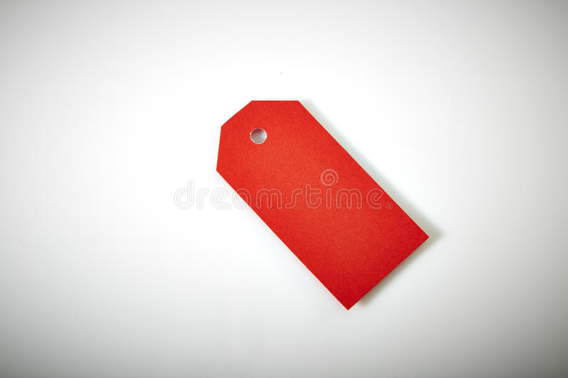 Large Price Tag. With Copy Space on White Background royalty free stock images