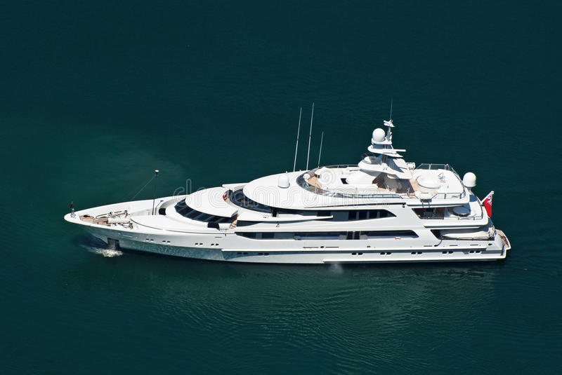 Large private motor yacht royalty free stock photography