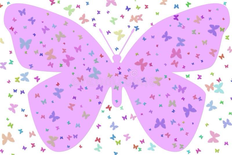 Large Purple Butterfly stock illustration