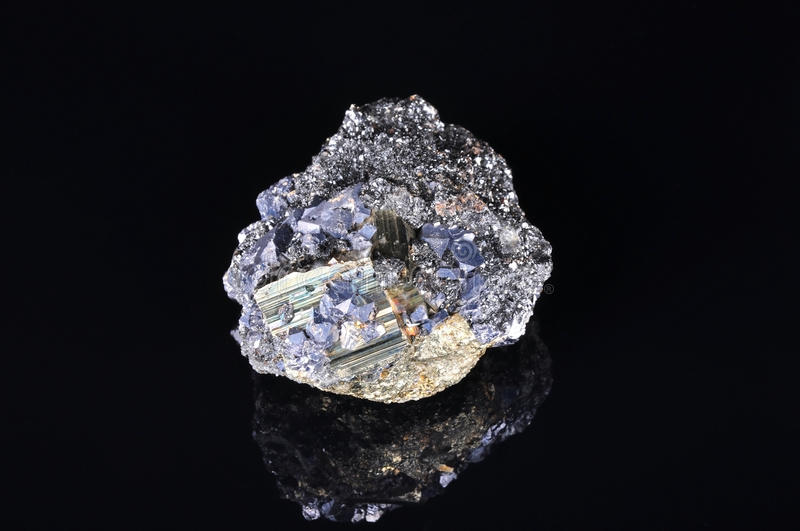 Large Pyrite With Galena Royalty Free Stock Image