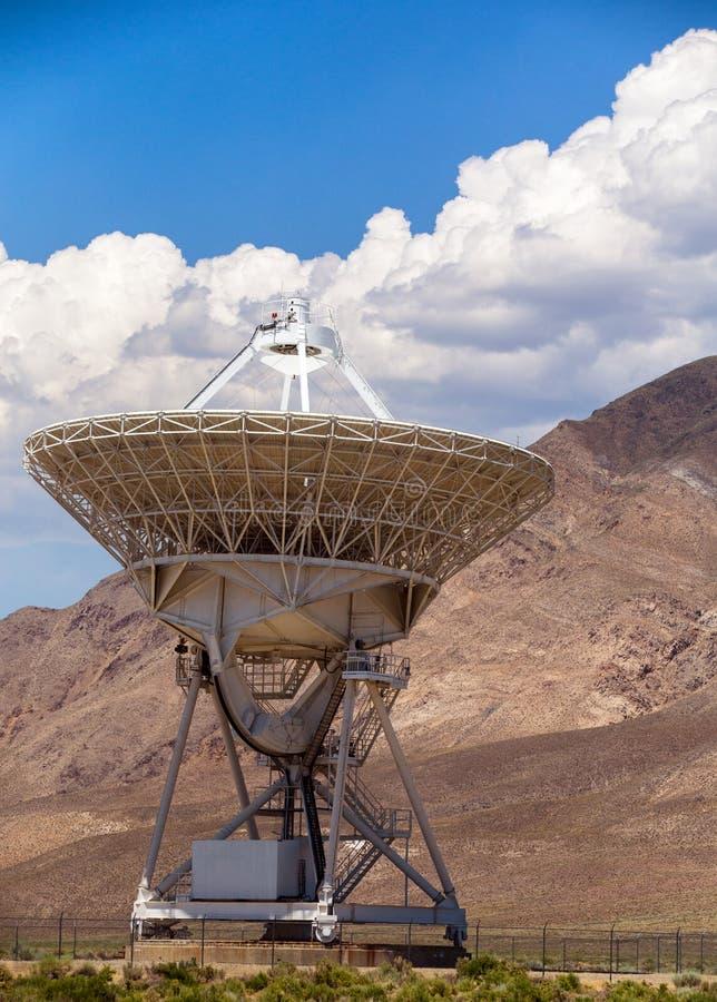 Radio Telescope. A Large radio telescope dish Owens Valley Radio Observatory royalty free stock photos
