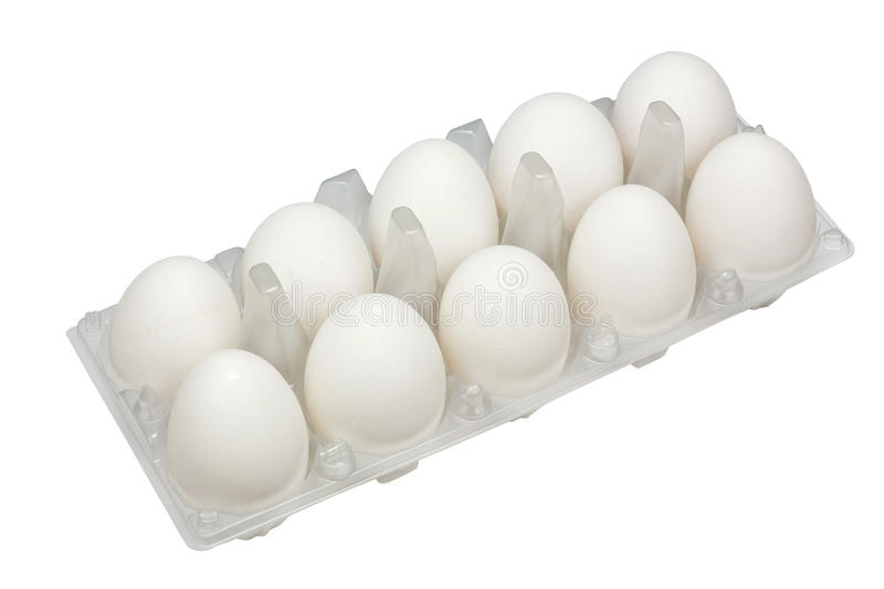 Large real white rural eggs royalty free stock photos