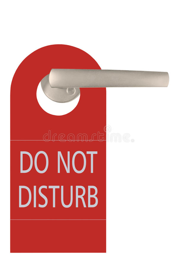 Download Large Red Isolated Do Not Disturb Tag Stock Image - Image of private, stay: 19094569