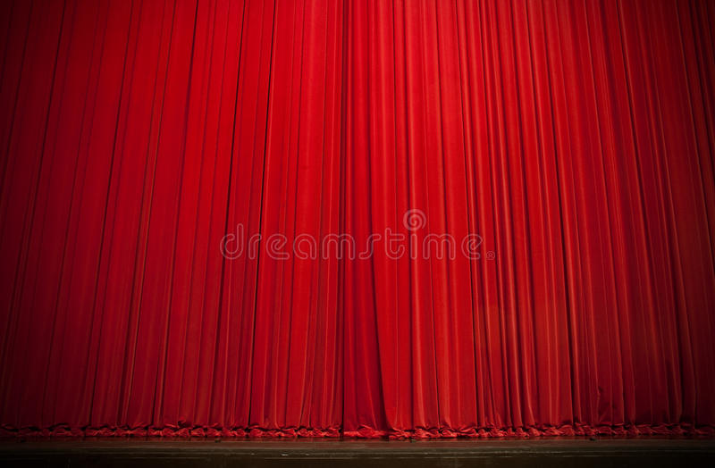 Download Large Red Stage Curtain stock photo. Image of copy, stage - 16285300