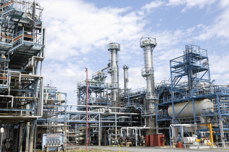 Download Large refinery interior stock image. Image of global, metal - 3409479