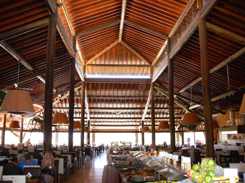 Download Large restaurant stock photo. Image of beam, resort, spacious - 934552