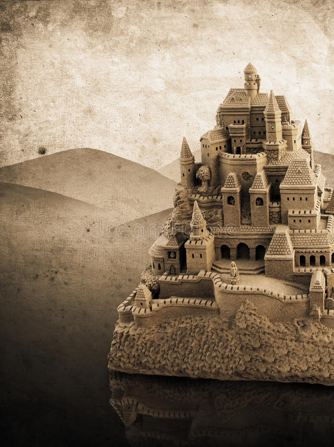 Download Large retro sandcastle stock photo. Image of fortress - 26682810