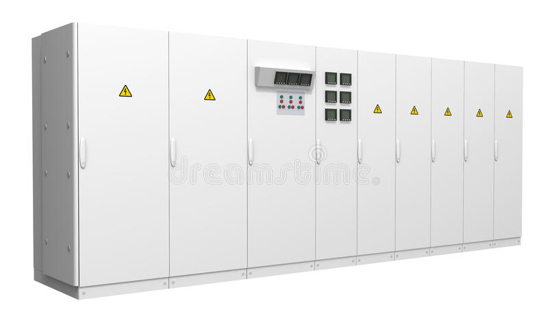 Large room/data center cooling unit. Isolated on white background stock illustration