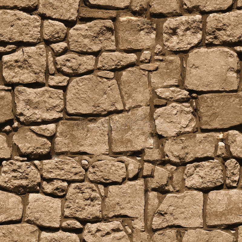 Free Large Rough Natural Stone Wall - Seamless Texture For Design Royalty Free Stock Images - 31647699