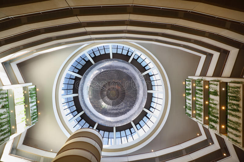 Large Round Dome In Hotel Stock Image