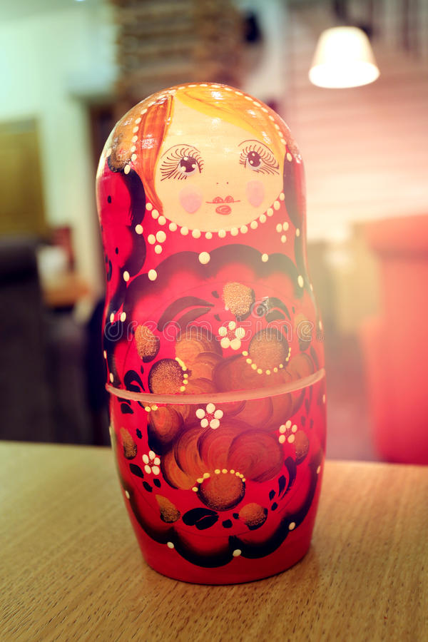 Large Russian nesting doll royalty free stock photo