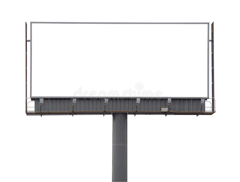 Large rusty billboard royalty free stock images