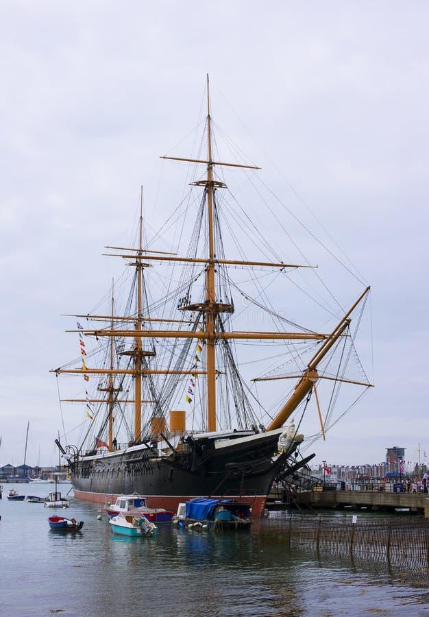Large Sailing Ship. Portsmuth, UK royalty free stock photography