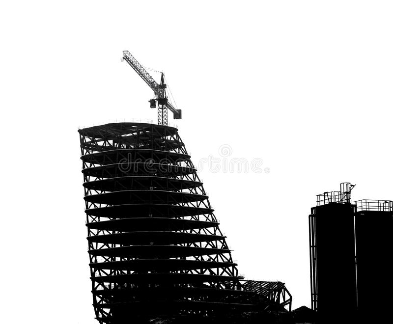 Large Scale Construction in Outline stock photography
