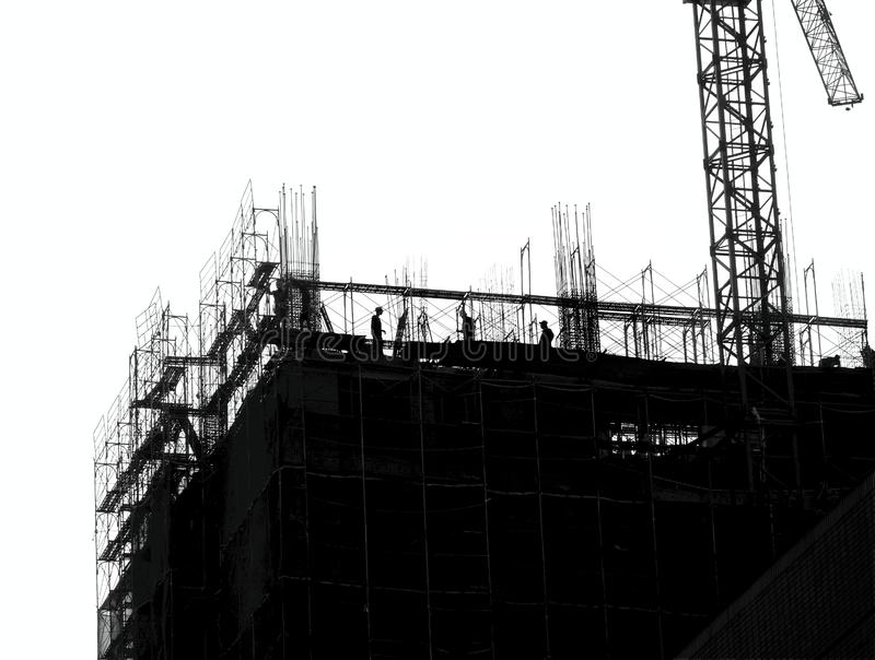 Large Scale Construction in Outline stock photos
