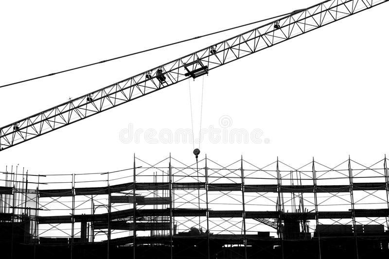 Large Scale Construction in Outline royalty free stock images