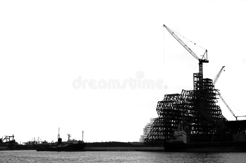 Large Scale Construction Project royalty free stock photography