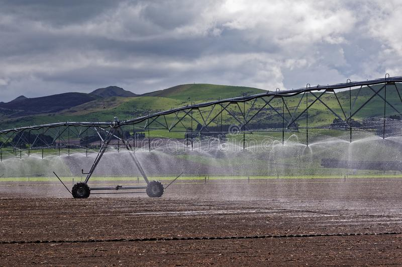 Large scale irrigation system for a dairy farm royalty free stock images