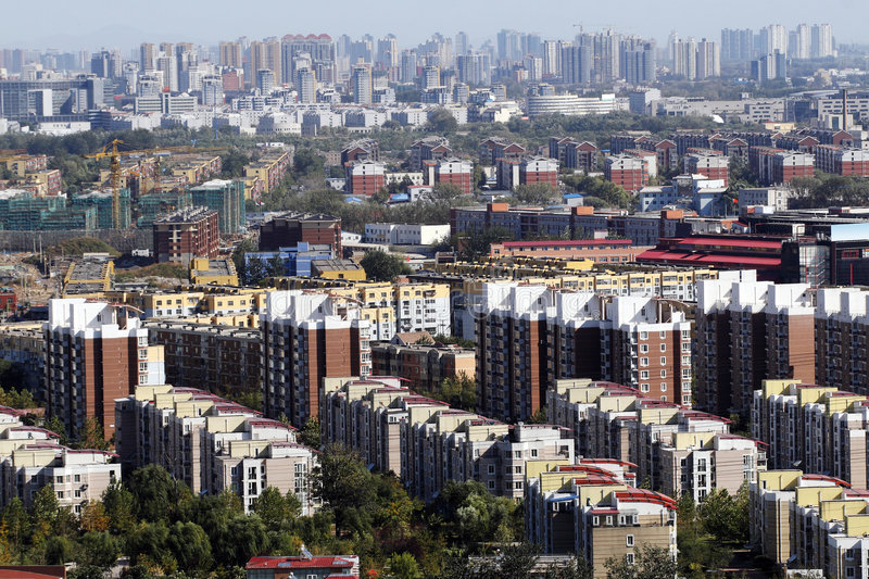 Large-scale residential area stock photos